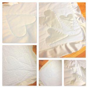 "The ""Wedding Dress"" Baby Blanket by The Little Bird Designs"