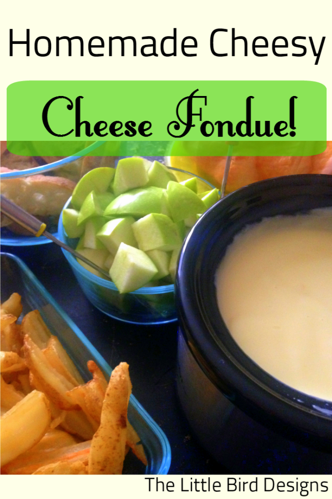 Homemade Cheesy Cheese Fondue Recipe by The Little Bird Designs