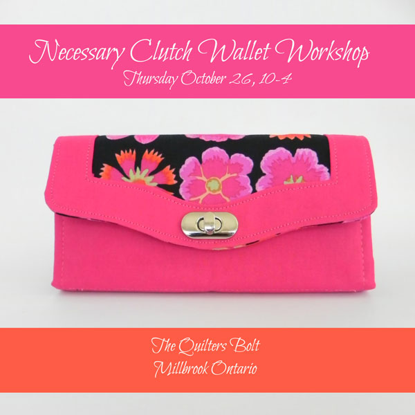 Necessary Clutch Wallet Workshop - The Little Bird Designs