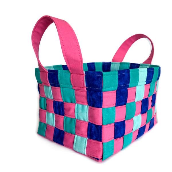 Side of Little Woven Basket - The Little Bird Designs