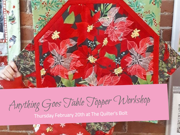February Anything Goes Table Topper Workshop - The Little Bird Designs